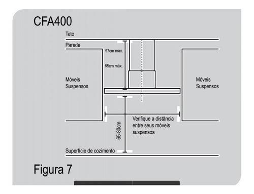 coifa digital touch t shape parede 90cm 220v cfa400 preta