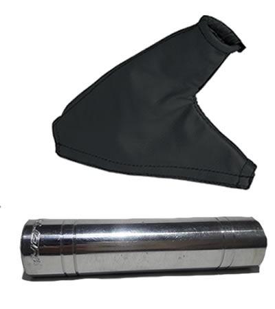 coifa freio preta + capa freio cromada strada cabine estendi