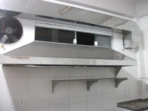 coifa industrial em aço inox sob medida, balcões ...
