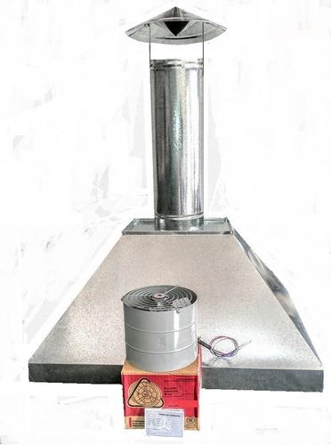 coifa industrial em inox e galvanizado kit completo
