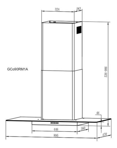 coifa parede gallant venezia vidro reto inox 90cm 127v