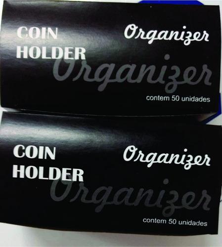 coin holder p/ moedas cx com 50 unidades - otima qualidade
