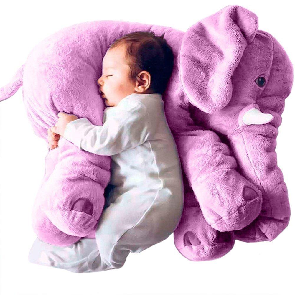 Cojín Almohada Para Dormir De Bebé Elefante Suave Morada