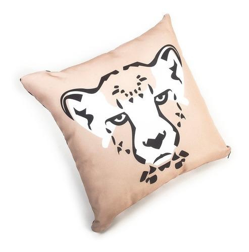 cojín animal print diseño leopardo colección serengeti.