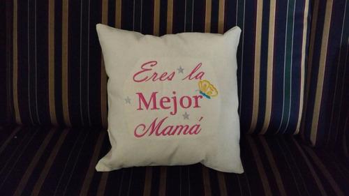 cojin bordado personalizado día madres regalo recuerdo