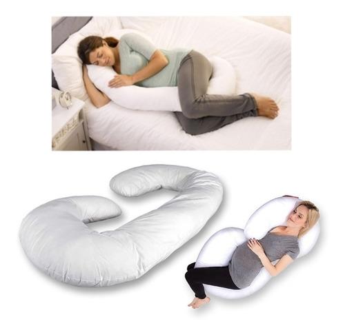 cojin c, almohada descanso en el embarazo + 1funda de regalo