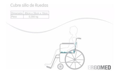 cojín cubre silla de ruedas relleno perlas de poliestireno