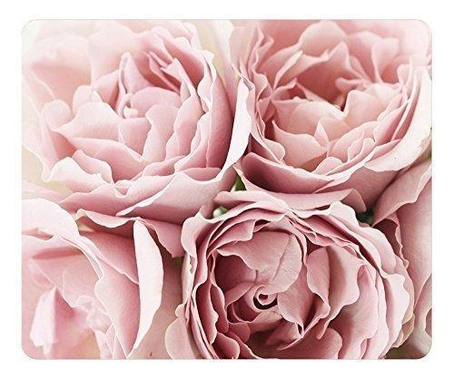 cojín de ratón rosado de las rosas  oblonga en forma de alf