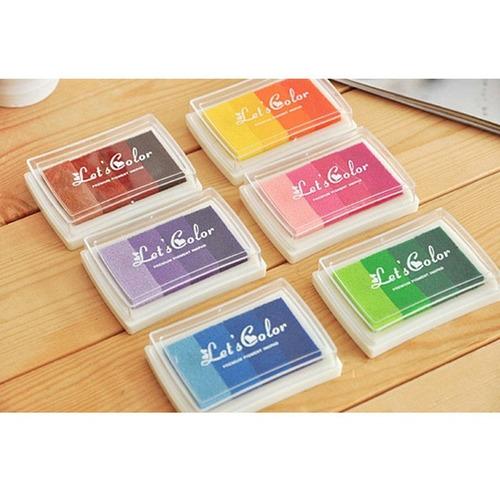 cojin de tinta de colores para sellos scrapbooking