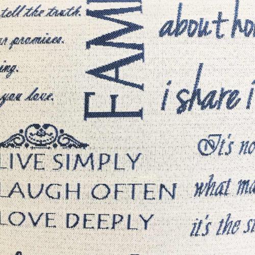 cojin decorativo 45x45 - navidad family - azul