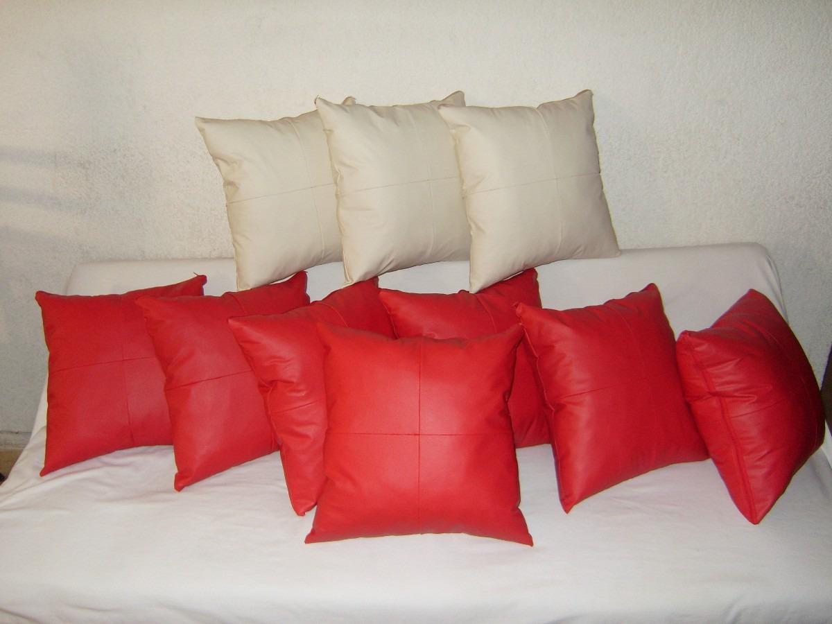 Cojin decorativo en tacto piel de calidad y buen precio for Sofas de piel a buen precio