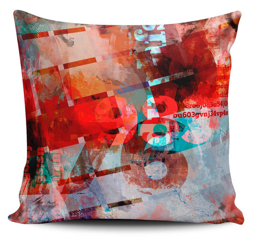 cojin decorativo tayrona store abstracto numeros rojo