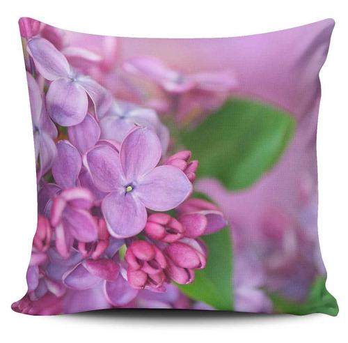 cojin decorativo tayrona store flores rosadas