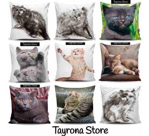 cojin decorativo tayrona store gato 03 gris