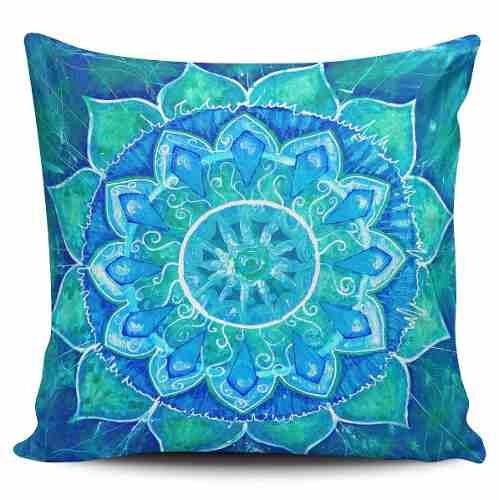 cojin decorativo tayrona store mandala azul
