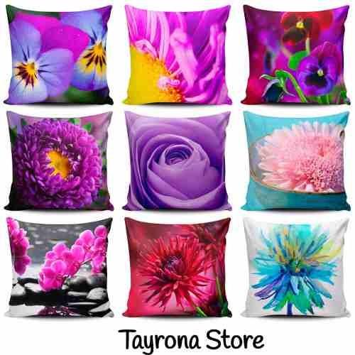 cojin decorativo tayrona store pinturas flores vintage 24