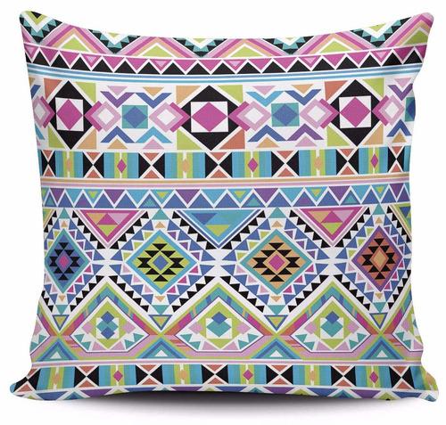 cojin decorativo tayrona store tejido indio con colores neon