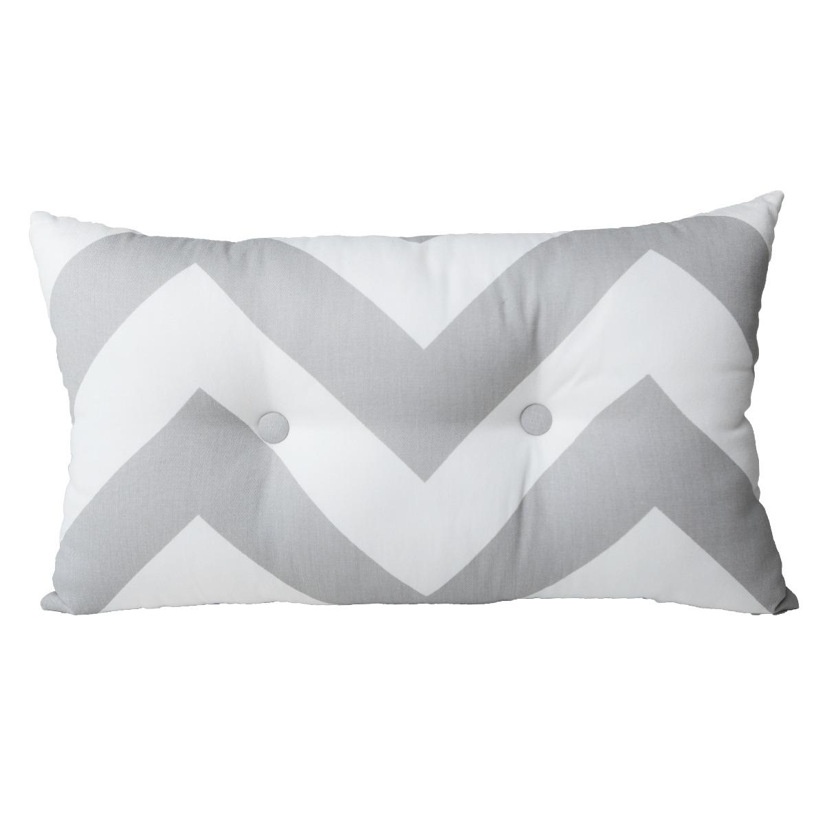 Cojin Decorativo Zig Zag Decoracion Blanco Gris 30 X 50 398 00  # Beestudio Muebles