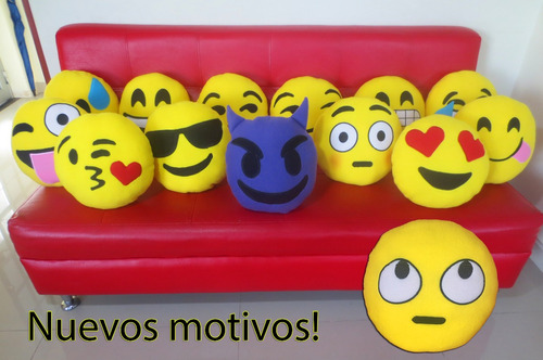 cojin emoji emoticon whatsapp relleno anti-alergico 32cm