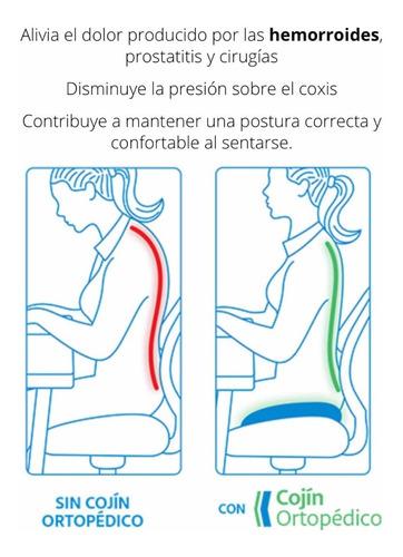 cojín ergonómico ortopedico lumbar corrector de postura