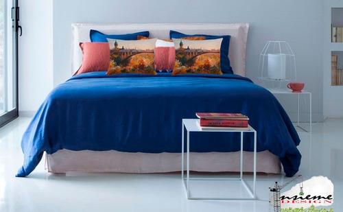 cojin funda almohada europa venecia paris - sofa cama decor