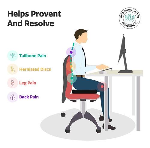 cojín gel asiento ortopédico coxis ciatica *envio inmediato*