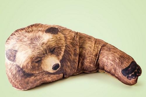 cojin grande de oso pardo original y nuevo