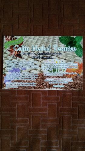 cojín herbal térmico  relleno de plantas medicinales