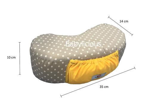 cojín lactancia portátil con mandil integrado babylicious
