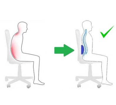 cojin lumbar ergonometrico |  respaldo - topmedic
