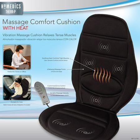 cojin masajeador con teparia de calor - homedics