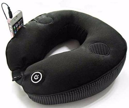 cojin masajeador cuello con conexion mp3, mp4, celular!