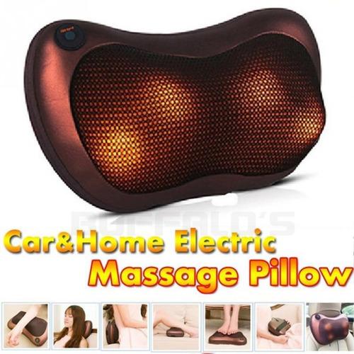 cojin masajeador para auto o casa almohada terapéutico