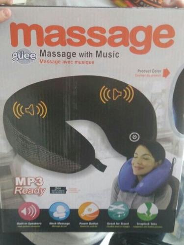 cojín masajeador vibrador con parlantes. super-envios