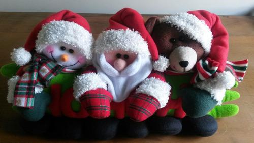 cojin navideño caritas