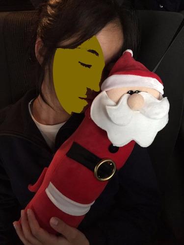 cojín navideño para cinturón de auto niños  set de 2