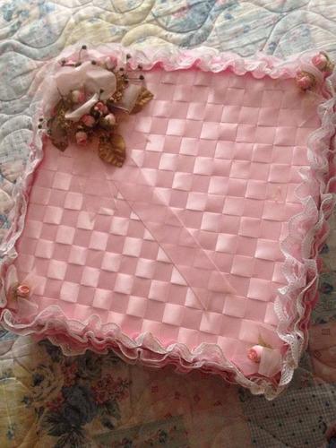 cojin para xv años color rosa