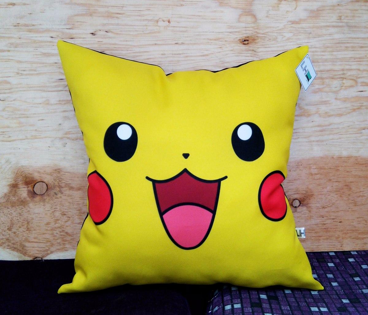 Coj N Pikachu Pokemon Cara Caricatura Regalo O Decoraci N  # Muebles Pokemon Mercadolibre