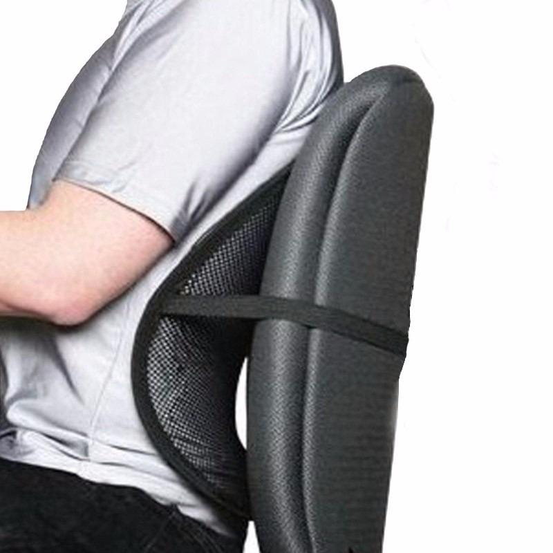 Cojin respaldar lumbar bolas antiestres masajeador for Cojin lumbar silla oficina