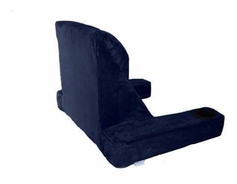 cojín respaldo azul para cama almohada ortopédica no memory