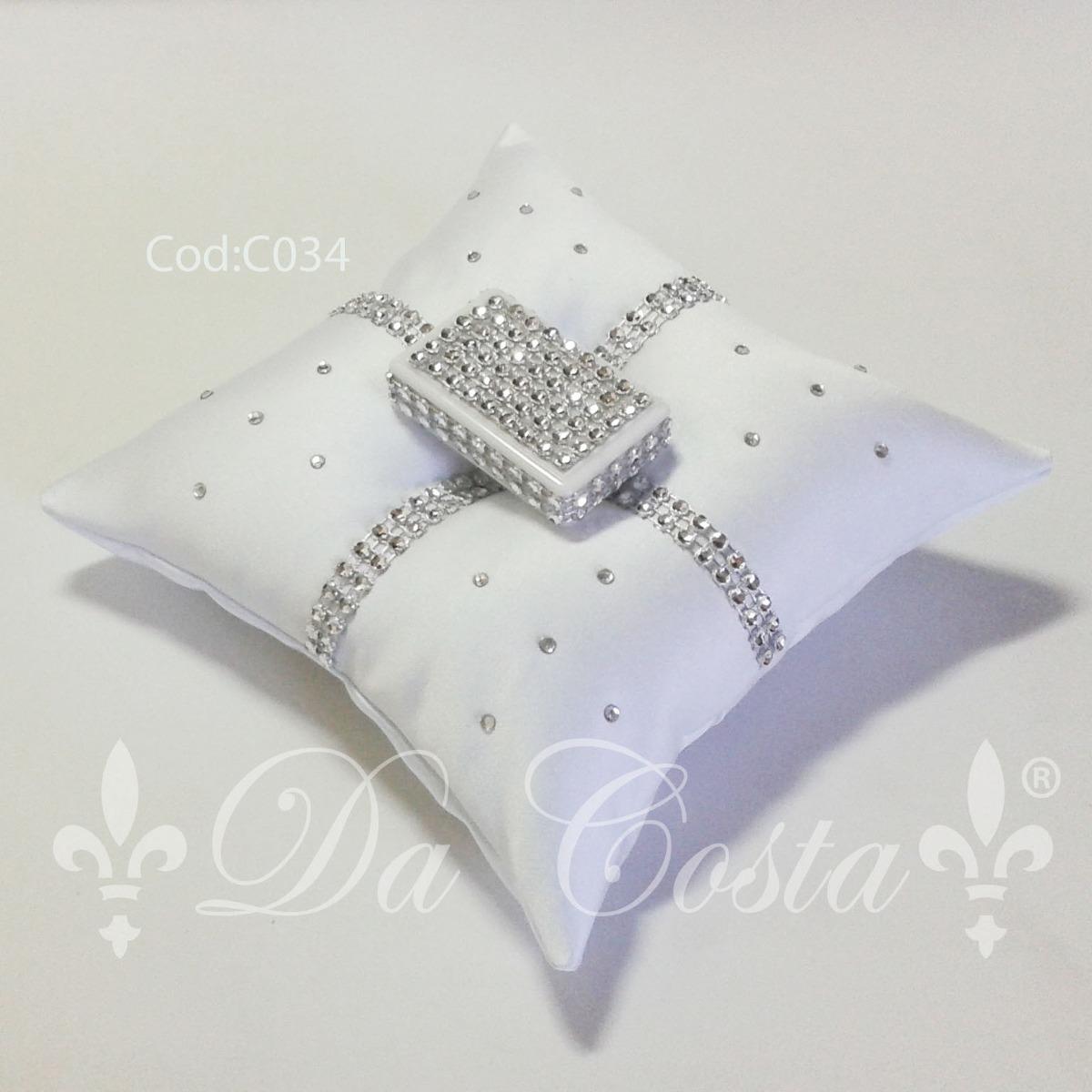 Cojin almohada para anillos aros arras boda matrimonio for Cojines para cama de matrimonio