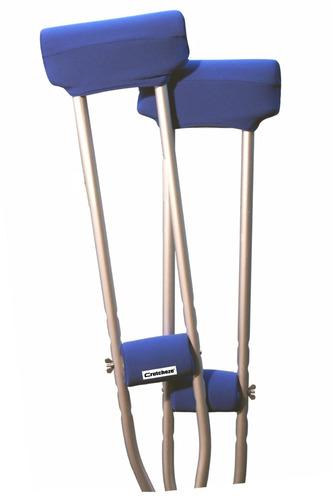 cojines de muleta azul royal crutcheze la muleta accesorios