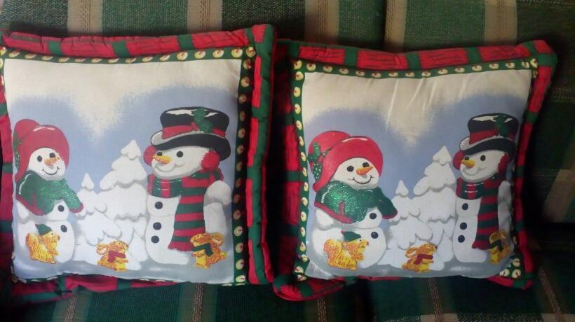 Cojines De Patchwork De Navidad.Cojines De Navidad