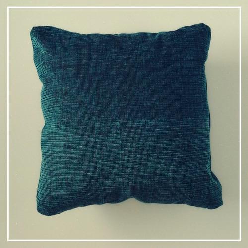 cojines decorativo tela azul 40x40 cms