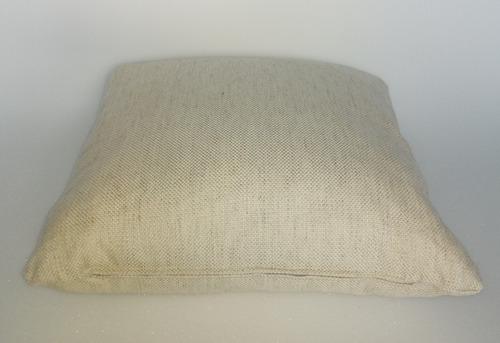 cojines decorativo tela beige 50x50 cms