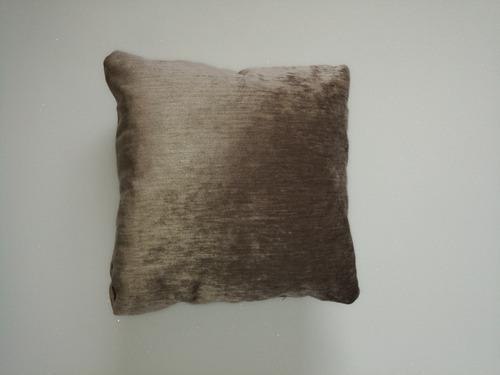cojines decorativo tela café 40x40 cms
