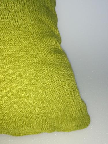 cojines decorativo tela verde grass 50x50 cms