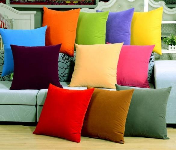 Cojines Decorativos En Tela Suede 50x 50 Cm   $ 190.00 en Mercado