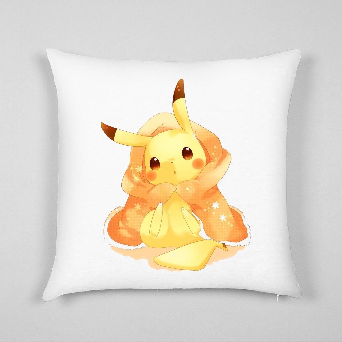Cojines Decorativos Estampados Almohadas Pikachu Pokemon  # Muebles Pokemon Mercadolibre