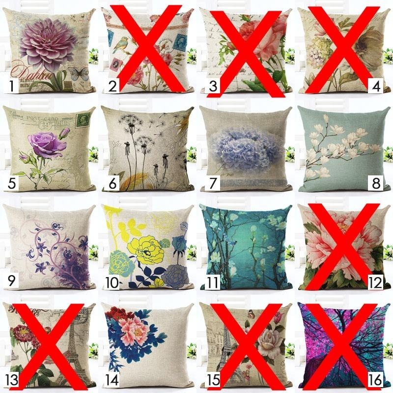 Cojines Decorativos Para Muebles Camas, Flores Nuevo Modelos